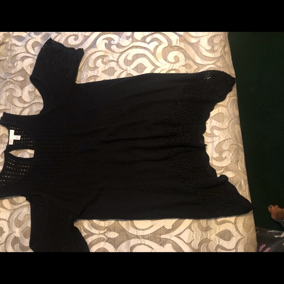 LC Lauren Conrad Sweaters - Black tunic sweater